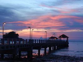 Salang - západ slunce.