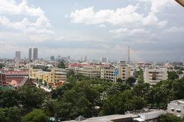Výhled na město ... mrakodrapy jsou vně centra.